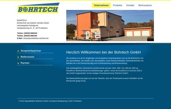Vorschau von www.spezialtiefbau-bohrtech.de, Bohr Tech Bohrtechnik und Zubehör Vertriebs GmbH