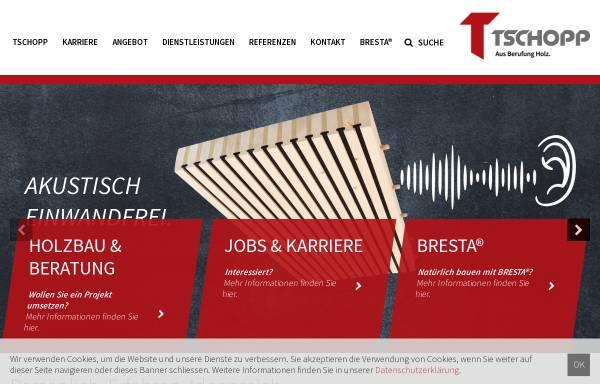 Vorschau von www.tschopp-holzbau.ch, Tschopp Holzbau AG