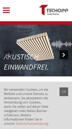 Vorschau der mobilen Webseite www.tschopp-holzbau.ch, Tschopp Holzbau AG