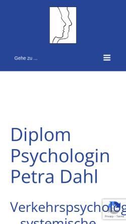 Vorschau der mobilen Webseite www.petradahl.de, Dahl, Petra, Dipl.-Psych.