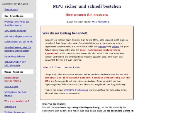 Vorschau von mpu-alarm.de, Mangold, Klaus, Dipl.-Psych.