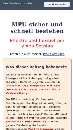 Vorschau der mobilen Webseite mpu-alarm.de, Mangold, Klaus, Dipl.-Psych.