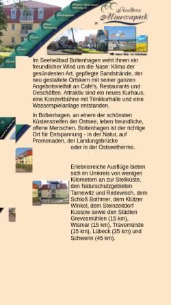 Vorschau der mobilen Webseite www.boltenhagen-minervapark.de, Ferienwohnung Nr.21, Residenz Minervapark