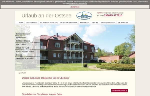 Vorschau von www.exklusiv-unterkunft.de, Ferienwohnungen Raeder