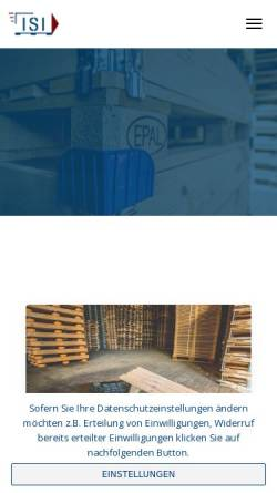 Vorschau der mobilen Webseite www.isi-paletten.de, ISI Transport- und Verpackungsmittel GmbH