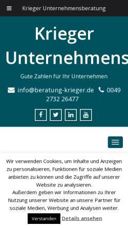 Vorschau der mobilen Webseite www.s-drechsler.de, S. Drechsler Unternehmenssteuerung