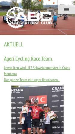 Vorschau der mobilen Webseite www.aegeribikeclub.ch, Aegeri Bike Club