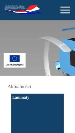 Vorschau der mobilen Webseite www.anglo-pol.eu, Anglo-Pol sp.j