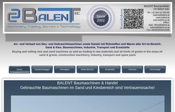 Vorschau von www.balent.at, Balent, Handel & Handelsagentur