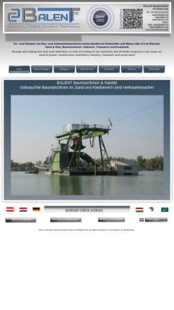 Vorschau der mobilen Webseite www.balent.at, Balent, Handel & Handelsagentur