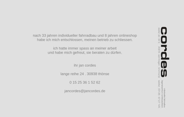 Vorschau von www.jancordes.de, Cordes