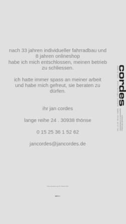 Vorschau der mobilen Webseite www.jancordes.de, Cordes