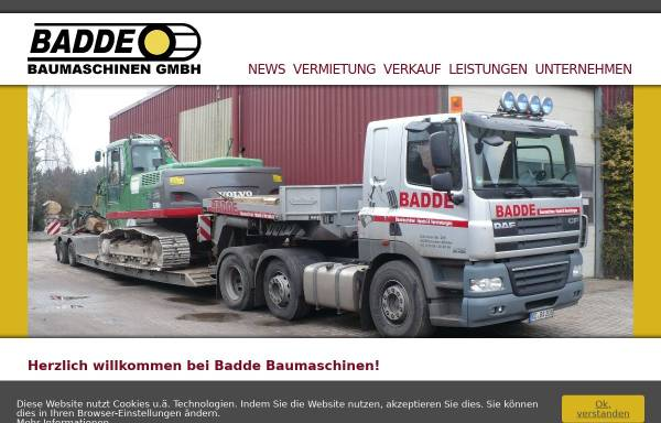 Vorschau von www.baumaschinen-badde.de, Baumaschinen Badde