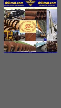 Vorschau der mobilen Webseite www.drillmat.com, Drillmat.com