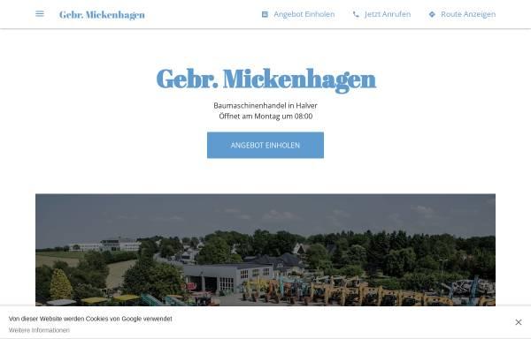 Vorschau von gebr-mickenhagen.business.site, Gebrüder Mickenhagen KG