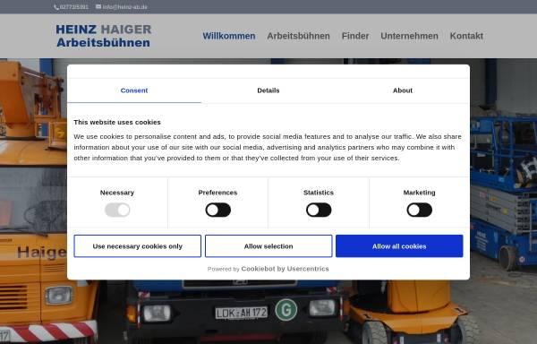 Vorschau von www.kranz-arbeitsmaschinen.de, Kranz Arbeitsmaschinen