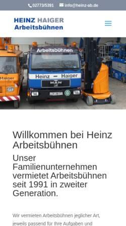 Vorschau der mobilen Webseite www.kranz-arbeitsmaschinen.de, Kranz Arbeitsmaschinen