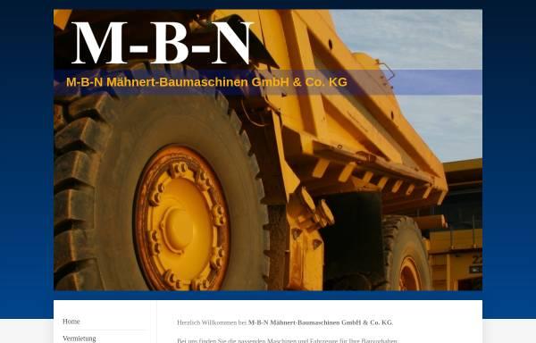 Vorschau von www.m-b-n.de, Mähnert Baumaschinen und Nutzfahrzeuge e.K.