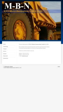 Vorschau der mobilen Webseite www.m-b-n.de, Mähnert Baumaschinen und Nutzfahrzeuge e.K.