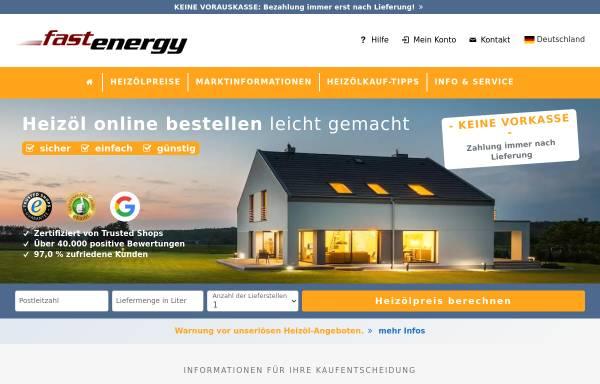 Vorschau von www.fastenergy.de, Fastenergy GmbH