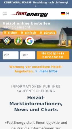 Vorschau der mobilen Webseite www.fastenergy.de, Fastenergy GmbH