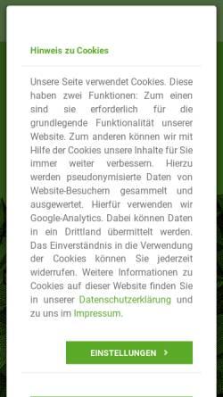 Vorschau der mobilen Webseite www.alpenverein-schwaben.de, Freitank Schwaben GmbH