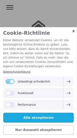 Vorschau der mobilen Webseite www.simmler-baumaschinen.ch, Simmler Baumaschinen AG