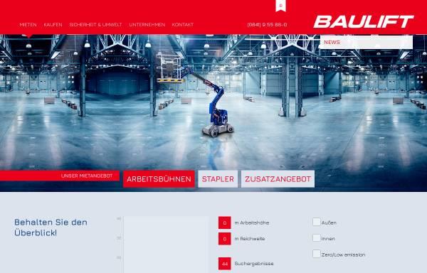 Vorschau von www.baulift.com, Baulift GmbH & Co. KG
