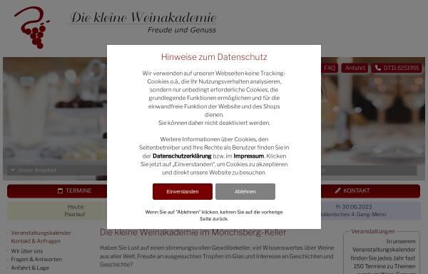 Vorschau von www.kleine-weinakademie.de, Die kleine Weinakademie in Stuttgart