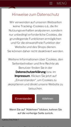 Vorschau der mobilen Webseite www.kleine-weinakademie.de, Die kleine Weinakademie in Stuttgart