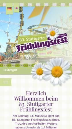 Vorschau der mobilen Webseite www.stuttgarter-fruehlingsfest.de, Stuttgarter Frühlingsfest