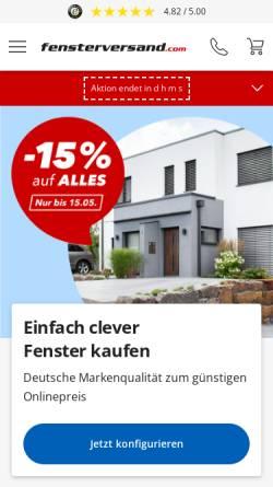 Vorschau der mobilen Webseite www.fensterversand.com, Neuffer Fenster + Türen GmbH