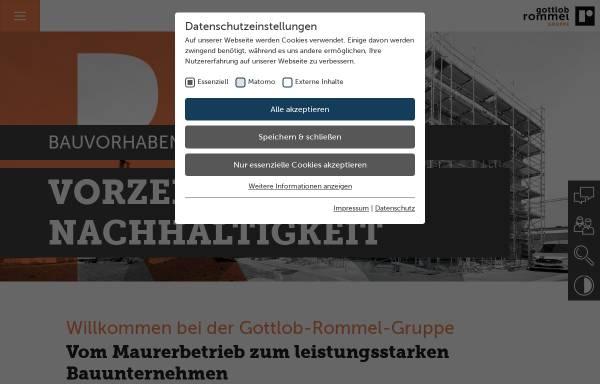 Vorschau von www.gottlob-rommel.de, Gottlob Rommel Bauunternehmungs GmbH & Co. KG