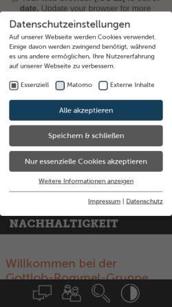Vorschau der mobilen Webseite www.gottlob-rommel.de, Gottlob Rommel Bauunternehmungs GmbH & Co. KG