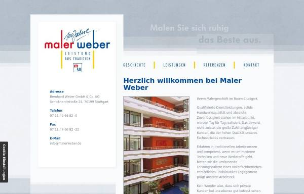 Vorschau von malerweber.de, Maler Weber
