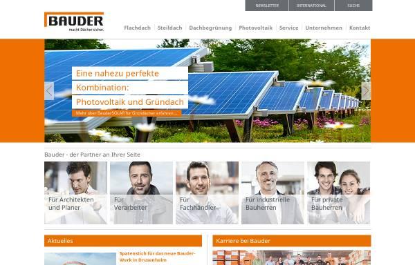 Vorschau von www.bauder.de, Paul Bauder GmbH & Co. KG