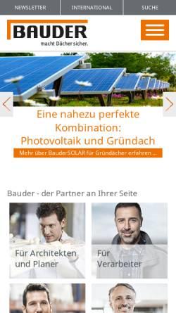 Vorschau der mobilen Webseite www.bauder.de, Paul Bauder GmbH & Co. KG