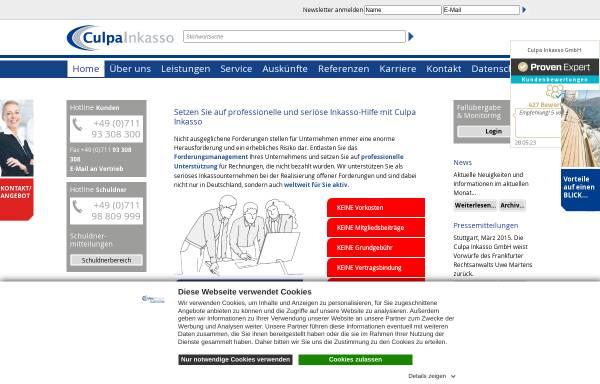 Vorschau von www.culpa-inkasso.de, Culpa Inkasso GmbH