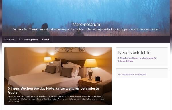 Vorschau von www.mare-nostrum.de, Mare Nostrum, Agentur für Behindertenreisen