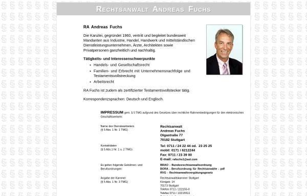 Vorschau von www.fuchs-ra.de, Rechtsanwalt Kanzlei Fuchs
