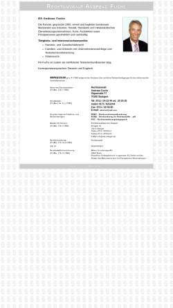 Vorschau der mobilen Webseite www.fuchs-ra.de, Rechtsanwalt Kanzlei Fuchs