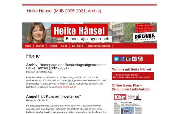 Vorschau von www.heike-haensel.de, Hänsel, Heike (MdB)