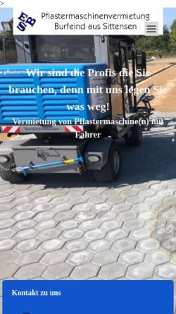 Vorschau der mobilen Webseite www.pflastermaschinenvermietung.de, Ulrich Burfeind e.K.