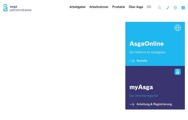 Vorschau von www.asga.ch, ASGA Pensionskasse