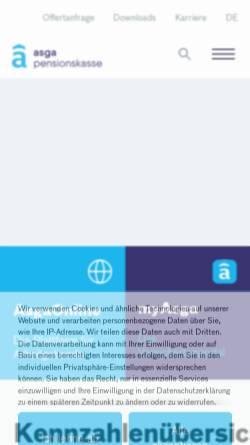 Vorschau der mobilen Webseite www.asga.ch, ASGA Pensionskasse