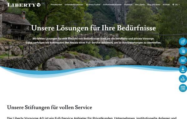 Vorschau von www.liberty-stiftung.ch, Liberty Freizügigkeitsstiftung