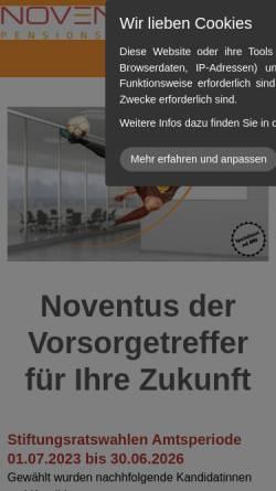 Vorschau der mobilen Webseite www.noventus.ch, Noventus PensionPartner AG