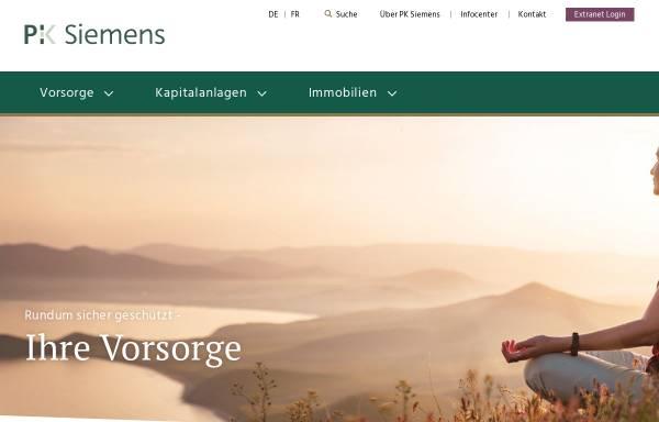 Vorschau von www.pk-siemens.ch, Pensionskasse der Siemens-Gesellschaften in der Schweiz