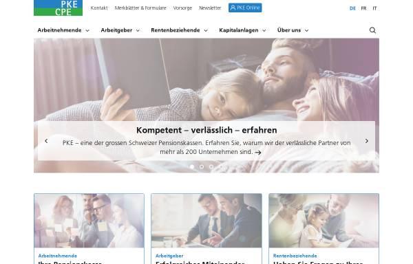 Vorschau von www.pke.ch, PKE Pensionskasse Energie