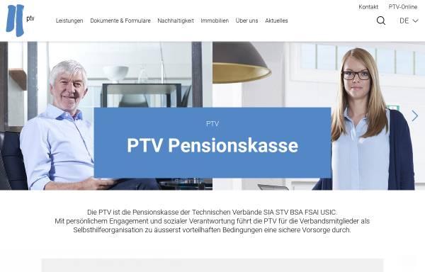Vorschau von www.ptv.ch, PTV Pensionskasse der Technischen Verbände